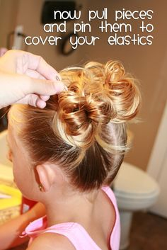 """She Does Hair"" lots of great ideas for doing a little girl's hair. I need to remember these because someday my daughter might not be tenderheaded."
