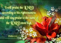 Psalms 7:17 KJV