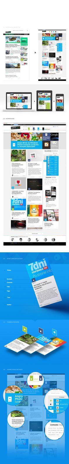 Antyapps - blog platform by Mateusz Pałka, via Behance