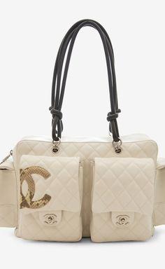 Chanel white and black shoulder bag.