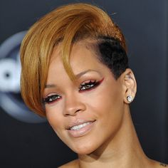 one of Rihanna's bests hair + makeup looks