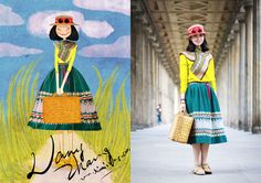 """Ilustradora chinesa mostra como criar um blog de """"Looks do dia"""" diferente // 8-01-2013 // Notícias // FFW Fashion Forward"""