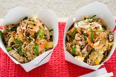 Egg fried rice with chicken and prawns – Recipes – Bite