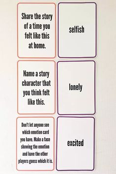 Our Emotions Card Game free printable. Use the Our Emotions Card Game to help children of all ages learn to recognise, manage and regulate big emotions.