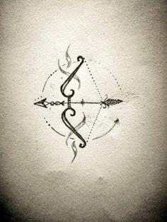 Image result for tatuaje constelación sagitario