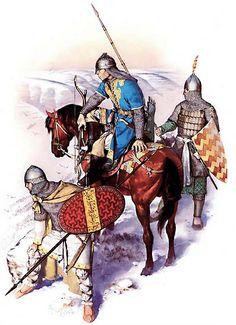 """El Selyucíes de ron (13 C) """"    • soldado de infantería de Anatolia  • Horse-Archer  • caballería pesada Ghulam"""