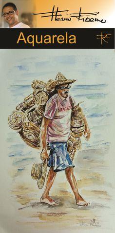 Vendedor de balaios e chapéus de palha