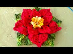 In this tutorial we show you how to crochet a flower with 6 petals. To make a petal we work stitches around the treble posts of 2 treble crochet cluster s. Crochet Puff Flower, Crochet Flower Tutorial, Knitted Flowers, Love Crochet, Diy Crochet, Irish Crochet, Crochet Flower Patterns, Crochet Designs, Crochet Squares