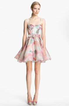Alice Olivia Belted Print Bustier Dress available at Dress Outfits, Casual Dresses, Short Dresses, Fashion Outfits, Summer Dresses, Pretty Outfits, Pretty Dresses, Beautiful Dresses, Bustier Dress