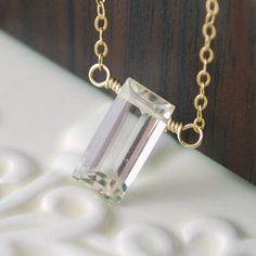 This is my last pale gold citrine baguette. Love this cut! livjewellery on etsy