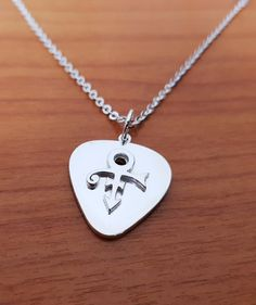 Pendant - Guitar Pick - 3D Pop Out  - Remembrance Symbol - 925  Silver