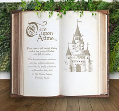 Vintage Storybook Fairytale Wedding Backdrop for Ceremony Decor or Photobooth by ZCreateDesign