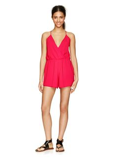 WILFRED CALMETTE ROMPER - A Japanese satin-back crepe romper, designed with a sexy and delicate back