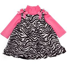 Rare Editions Zebra Jumper and Bodysuit Set - Baby ($25) ❤ liked on Polyvore