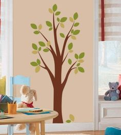 DIY Tree Wall Decal with a Free Downloadable Template by Cramberry