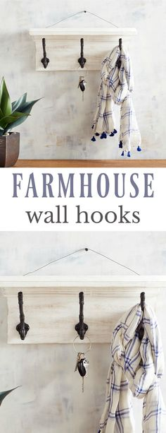 Farmhouse Wall Hooks  #affiliate #farmhouse #farmhousedecor #farmhousestyle #rusticfarmhouse #organization #storage #walldecor #pier1love