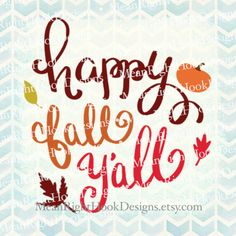 Happy Fall Y'all SVG Hand Lettered svg design by MeanRightHookDesigns #Cricut #Silhouette
