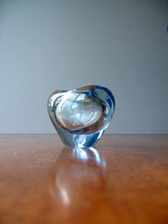 Small Danish Modern Holmegaard Menuet Glass Vase by luola on Etsy, $48.00