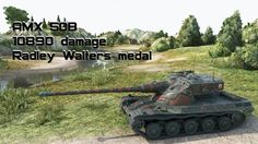 AMX 50B 10890 damage Radley Walters medal