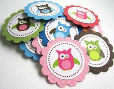 Owl Tags - T025 -- Set of 12. $3.85, via Etsy.