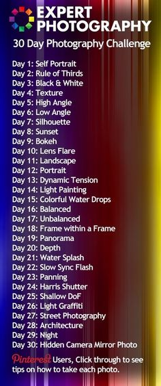 30 day photo challenge. Think I'll try it :)
