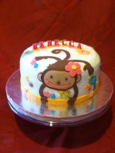 Monkey love birthday cake