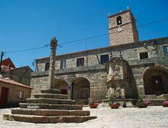 Picota en el casco viejo de Castelo Novo, Centro de Portugal, Portugal