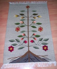 carpeta_Pomul_vietii Traditional Tapestries, Tapestry Weaving, Fantasy Creatures, Tree Of Life, Carpet, Textiles, Symbols, Ornaments, Wall Art