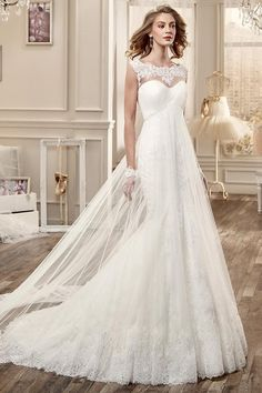 Nicole Spose's 2016 Bridal Collection manages to leave us in awe with its beautiful wedding dresses featuring elegantly romantic silhouettes. Amazing Wedding Dress, Wedding Dress Train, Lace Mermaid Wedding Dress, Mermaid Dresses, White Wedding Gowns, 2016 Wedding Dresses, Bridal Dresses, Dresses 2016, Wedding Dressses