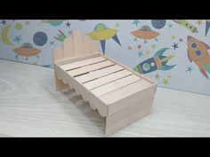 (1) How to Make Wooden Doll Bed Using Popsicle Stick | DIY Ice Cream Stick Bed - YouTube