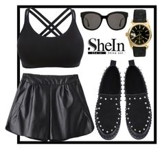 """Shein 3"" by irmica-831 ❤ liked on Polyvore featuring WithChic, Rolex and Gentle Monster"