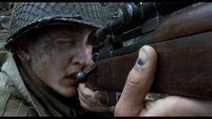 In Saving Private Ryan Jackson has a bruise on his thumb that was a common injury during WWII from soldiers' thumbs getting caught in the loading mechanism of Garands. Armas Airsoft, Obscure Facts, M1 Garand, Saving Private Ryan, Unknown Soldier, Recent Movies, Avenged Sevenfold, Wwii, Music Videos