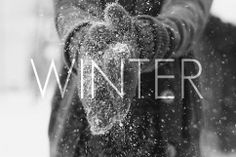 Winter Is Coming. Simple. Minimal. Typography. Modern. Action. Gloves. Snow. Transparent. Text. Black & White. Express. December. Cold & Dark. Light. Font. Illustration. Words. Message.