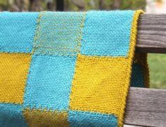 Weaving: Woven Blocks Baby Blanket