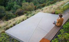 Concrete Platform with a forest view   Adam Christopher Concrete Pots