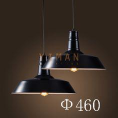 Yiman - Black Iron designer Pendant lamps YM2326-D1C - ceiling light - Yiman