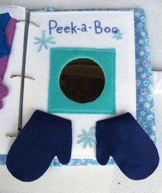 1 felt quiet book page for toddlers blue by ASCreativeations