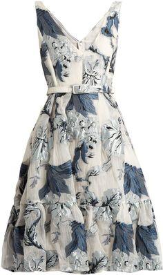 ERDEM Gaby floral-print fil coupé dress #shopstylecollective #affiliatelink