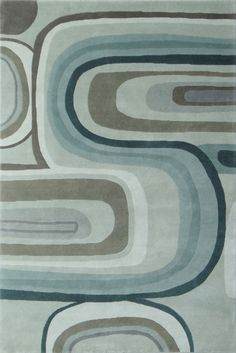 Master Bedroom Delos Hand Tufted Quality Area Rugs Curves  SKU:63907 Quality Shown: Hand Tufted Material: 100% Indian Wool Blend With Spun Bamboo Accents Handmade in India