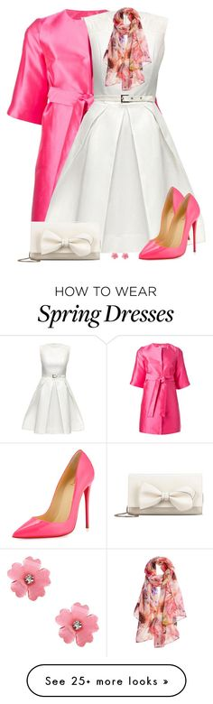 """""""Spring Scarf"""" by daiscat on Polyvore featuring P.A.R.O.S.H., Lattori, Elizabeth…"""