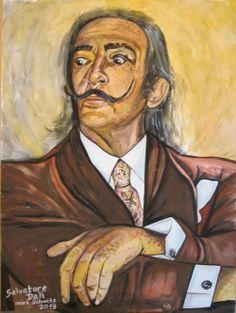 Salvatore Dali- Gouache. Unikat, gemalt und signiert von Heinz Schmitz