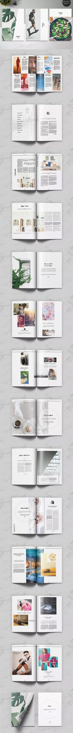 Prosto Universal Magazine Template InDesign INDD - A4 and Letter Size