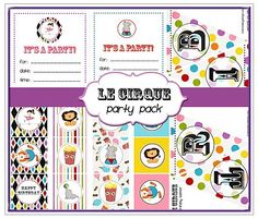 printable circus birthday decorations