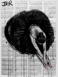 """Saatchi Online Artist Loui Jover; Drawing, """"prima ballerina"""" #art"""