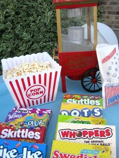 Movie night party idea! Get everything you need for your own movie night at Walgreens.com.
