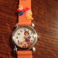 New Orange Snow White Dwarfs Princess Style Girls Watch 3 D | eBay