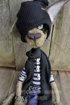 Looks like someone I know...Dark Alley Art Dolls.: Gothic Alley Cat Burton.