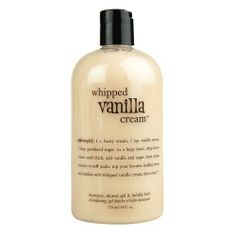 Philosophy Whipped Vanilla Cream 3-in-1 Shower Gel, Shampoo & Bubble Bath - 24 oz by Philosophy. $44.00. Leaves skin and hair feeling ultra soft. Multitasking, 3-in-1 formula. Sweet whipped vanilla cream scent