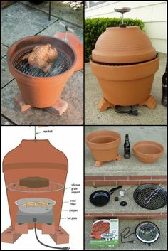 Build Your Own Clay Pot Smoker http://theownerbuildernetwork.co/t7ma We've featured a few smokers in the past - drum, wine barrels and even brick and timber ones. If you are looking for something cheaper, easier and quicker to get you started, you can use terracotta pots! This has got to be the easiest DIY smoker project. You can make it in the morning and be smoking your foods in the afternoon! No welding, no painting and no pipe bending! This is perfect for smaller families who would ...
