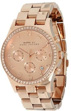 ShopStyle.com: Marc by Marc Jacobs - MBM3118 - Henry Chronograph (Rose Gold) - Jewelry $275.00